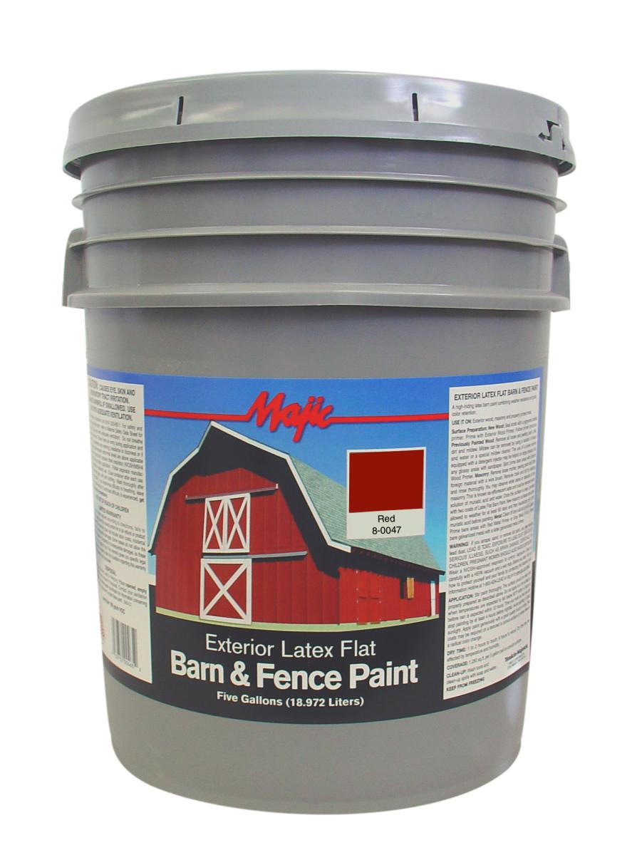 Red Latex Barn Fence Paint 5 Gal